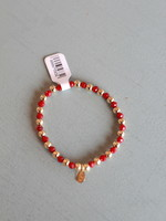 LPL Creations Jinny Bracelet in Red and Gold