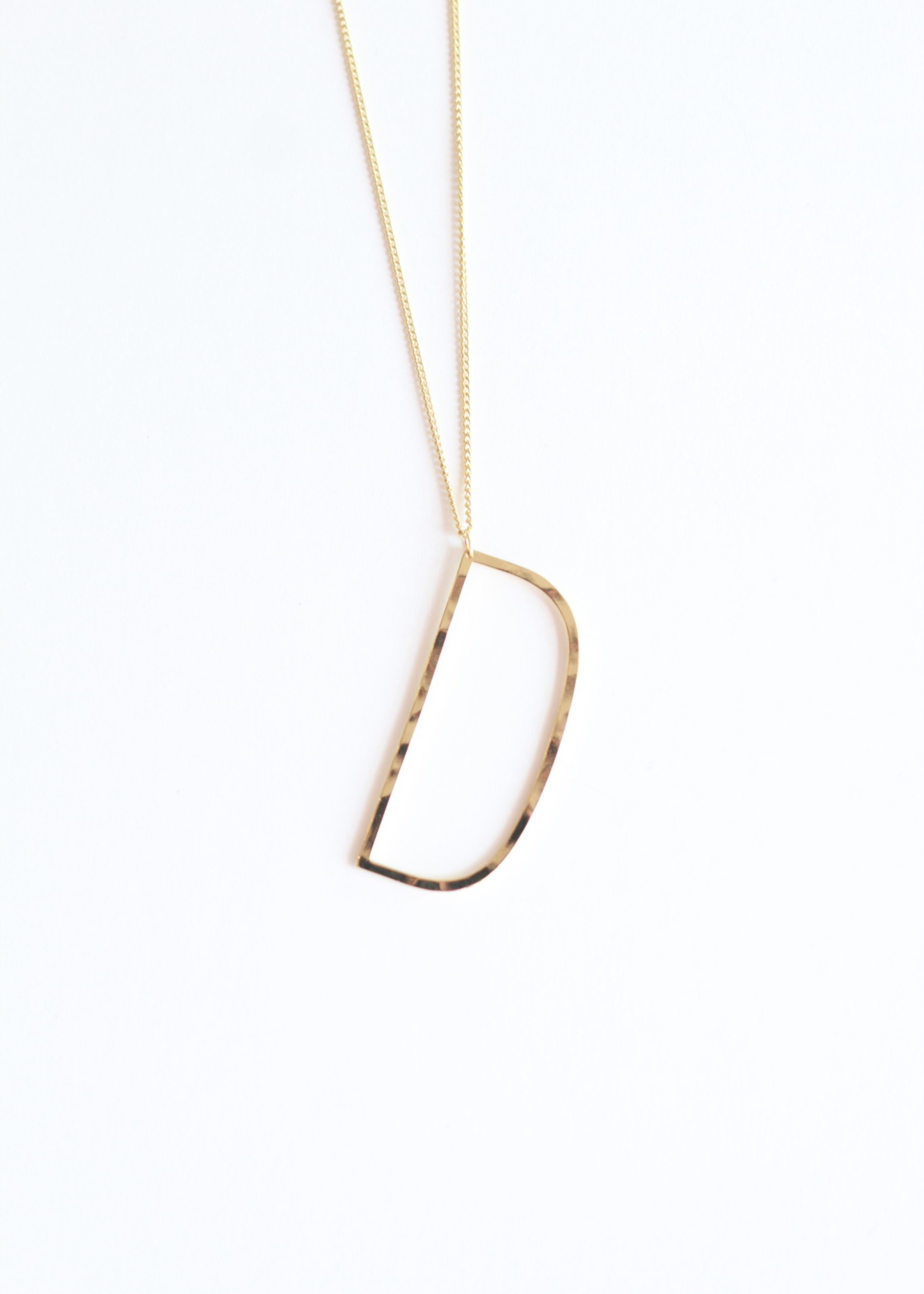 Allison Conway AC Oversized Initial Necklace 18in (A-L)