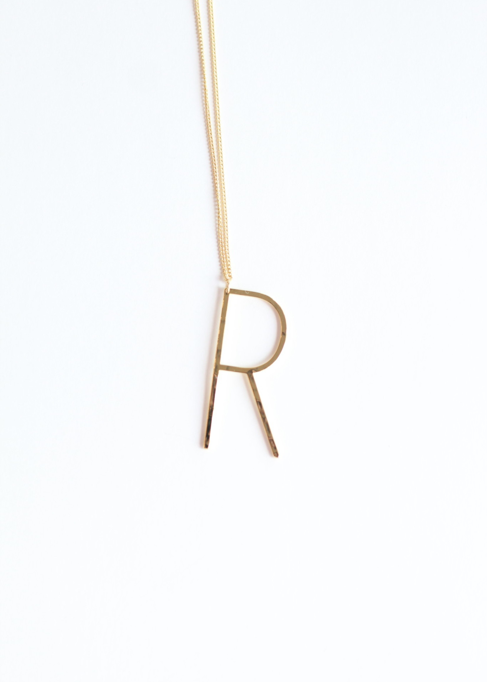 Allison Conway AC Oversized Initial Necklace 18in M-Z