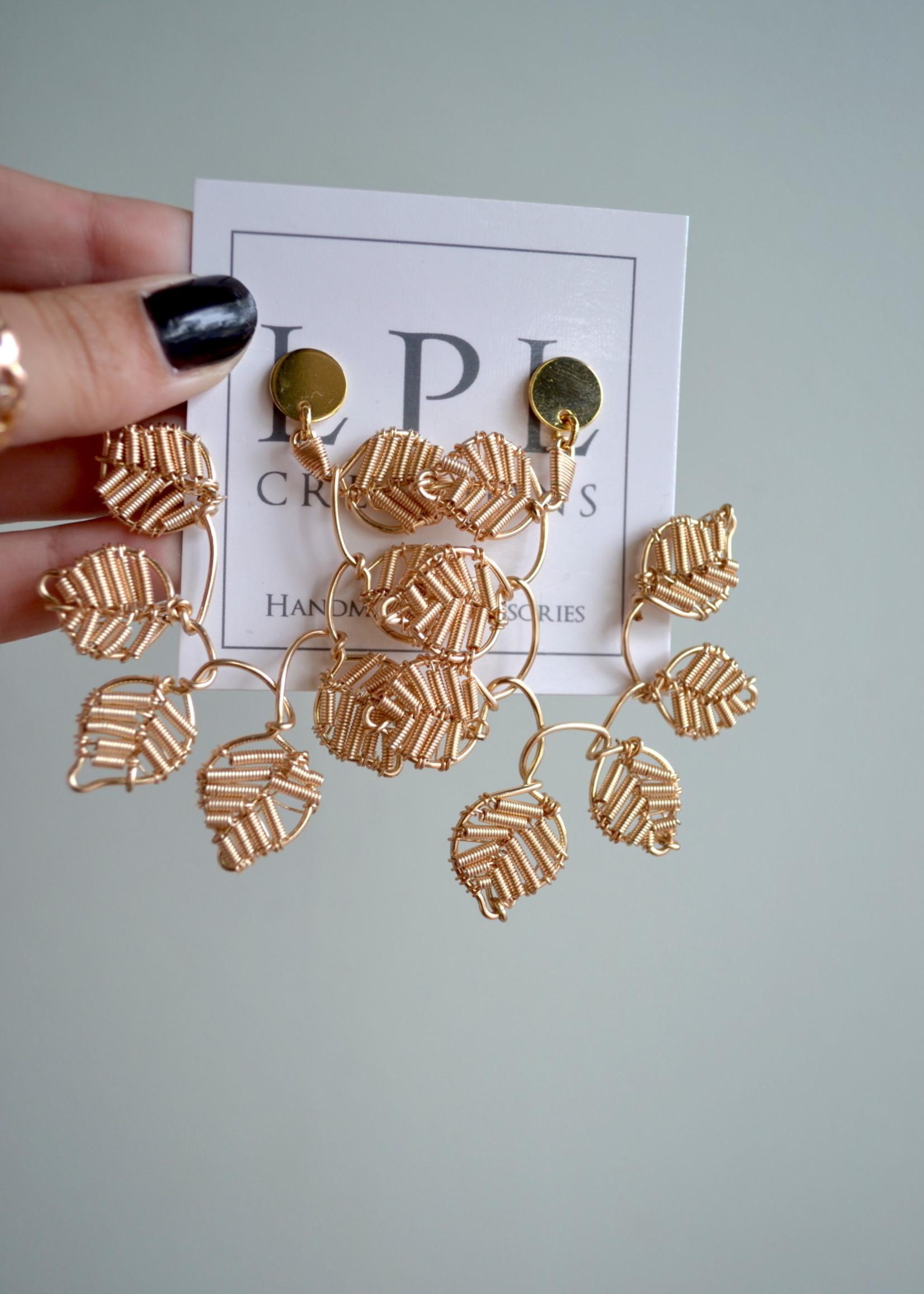 LPL Creations Vera Leaf Earrings