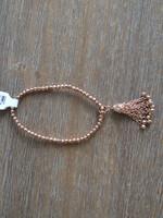 Local Squirrel Originals Rose Gold Tassel Beaded Bracelet