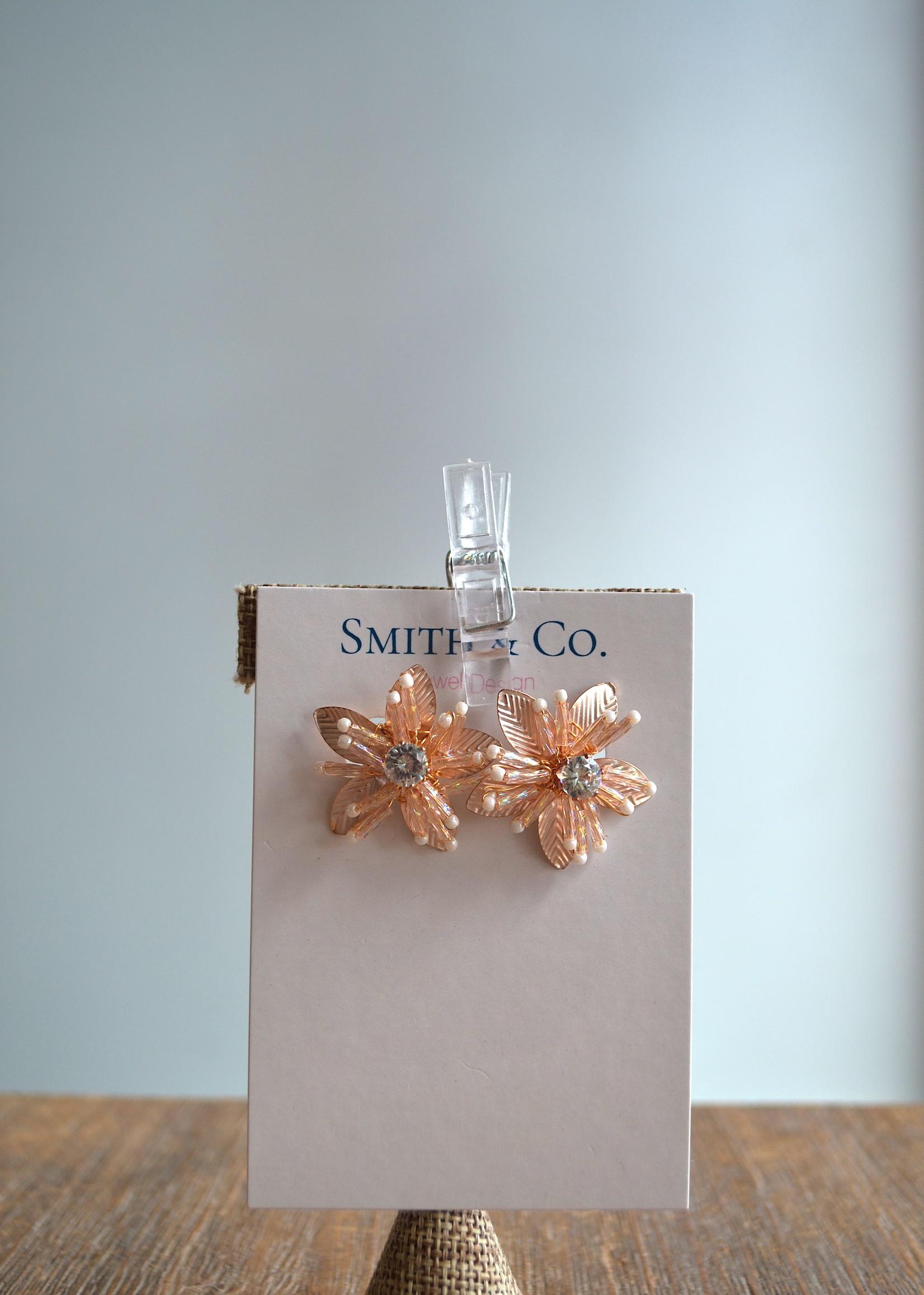 Smith & Co LS Shimmer Stud Rose Earring