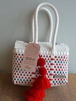 Valerosa Boutique Valerosa Peppermint Little Dia Purse with Red Tassel