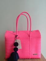 Valerosa Boutique Valerosa Solid Hot Pink Dia Purse with Navy Tassel