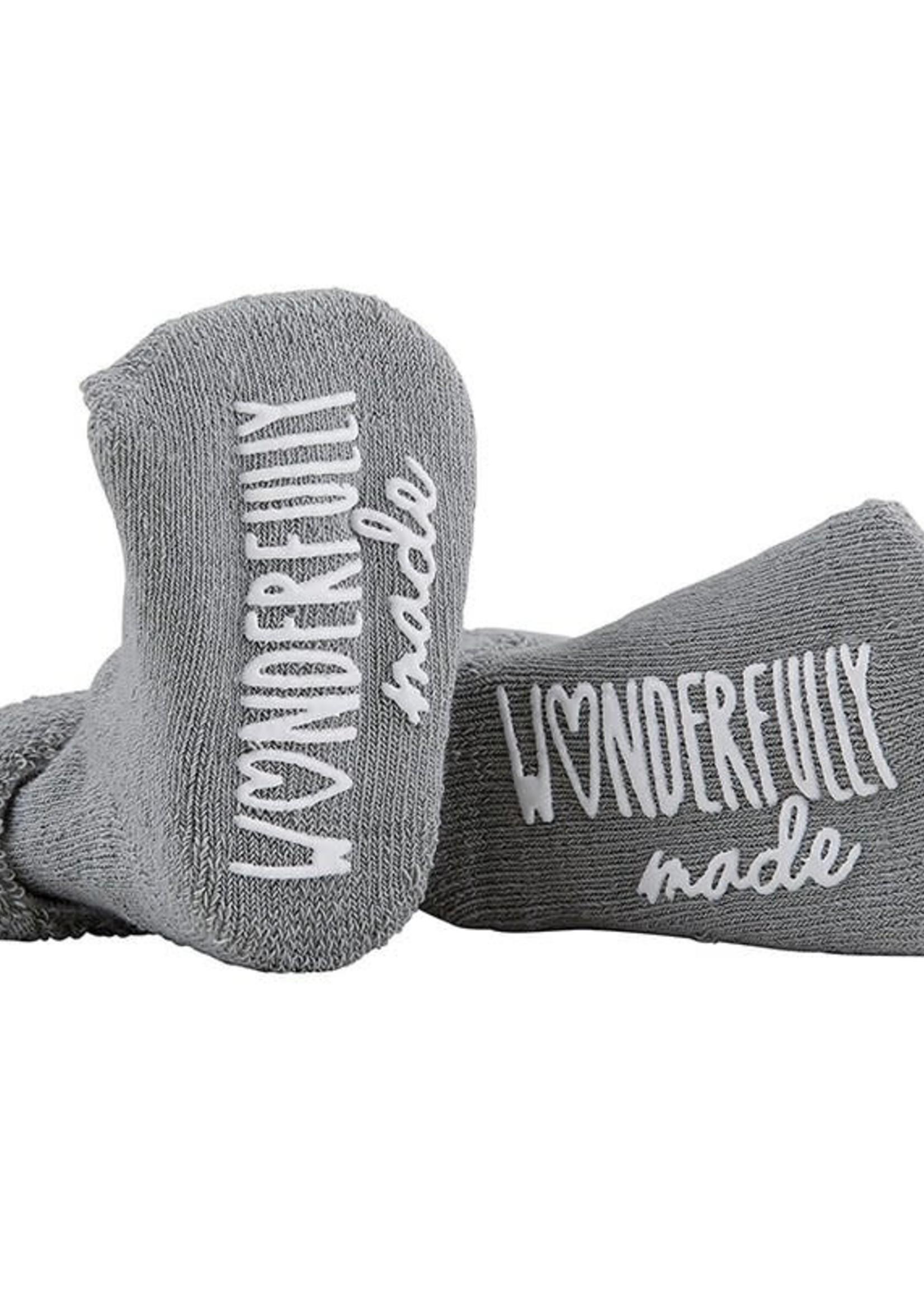 Gray Wonderfully Made Socks 3-12m