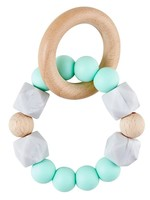 Silicone Wood Teether Mint Green