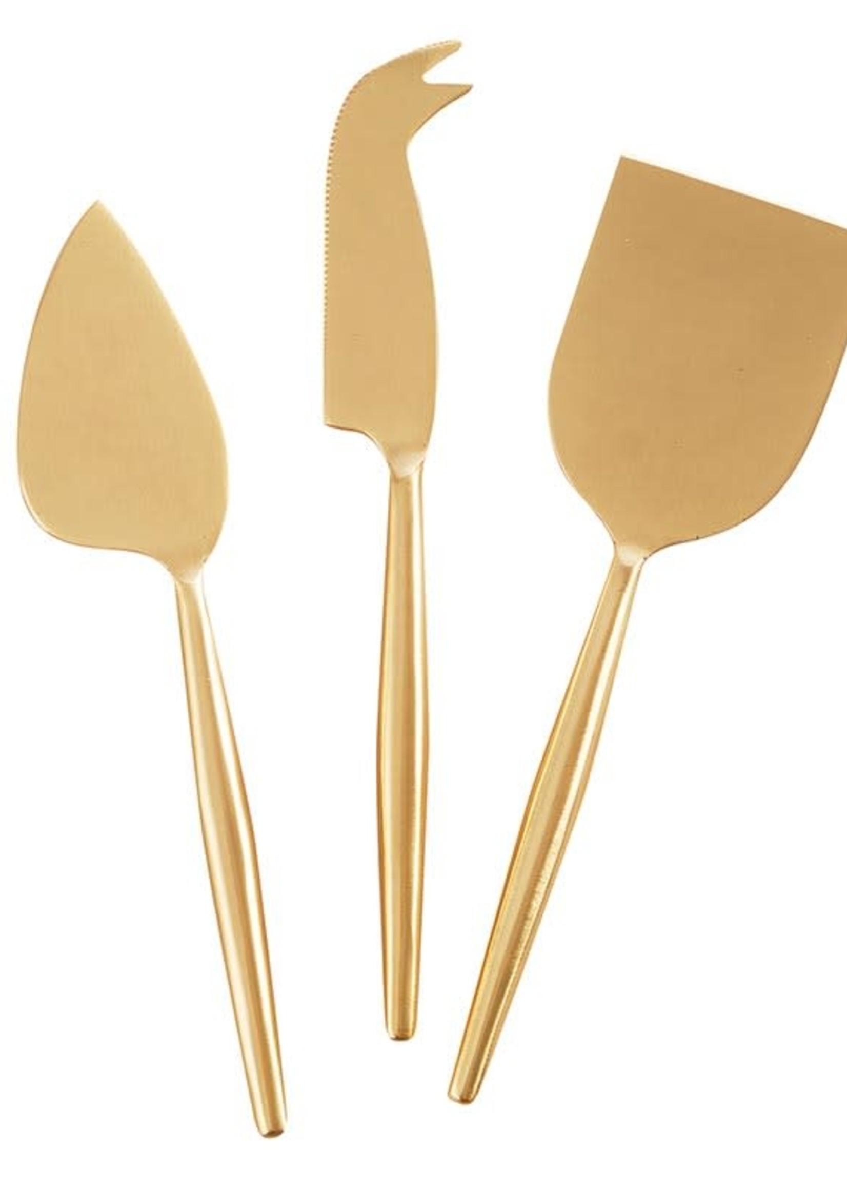 Matte Gold Cheese Set