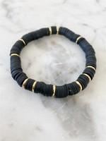 Mod Miss Jewelry Black Heishi Bracelet Medium