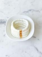 Mod Miss Jewelry Cream Heishi Bracelet Medium