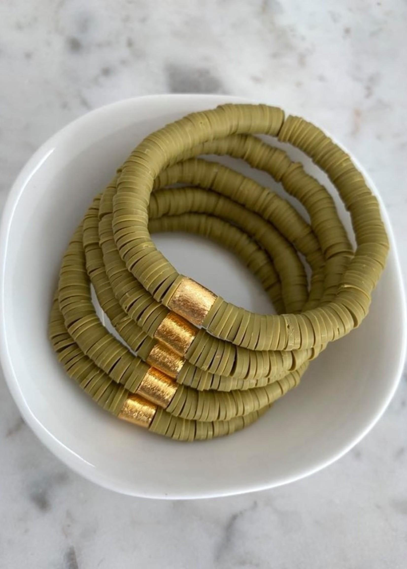 Mod Miss Jewelry Olive Heishi Bracelet Medium