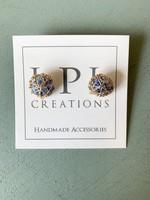 LPL Creations Wooten Studs in Blue Agate
