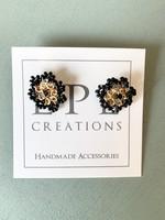 LPL Creations Beth Flower Studs in Black