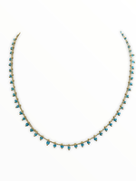 LPL Creations Flo Necklace in Blue