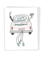 Happy Tines Just Married Car Card