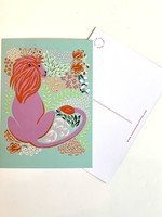 One & Only Paper Lion Postcard Print II