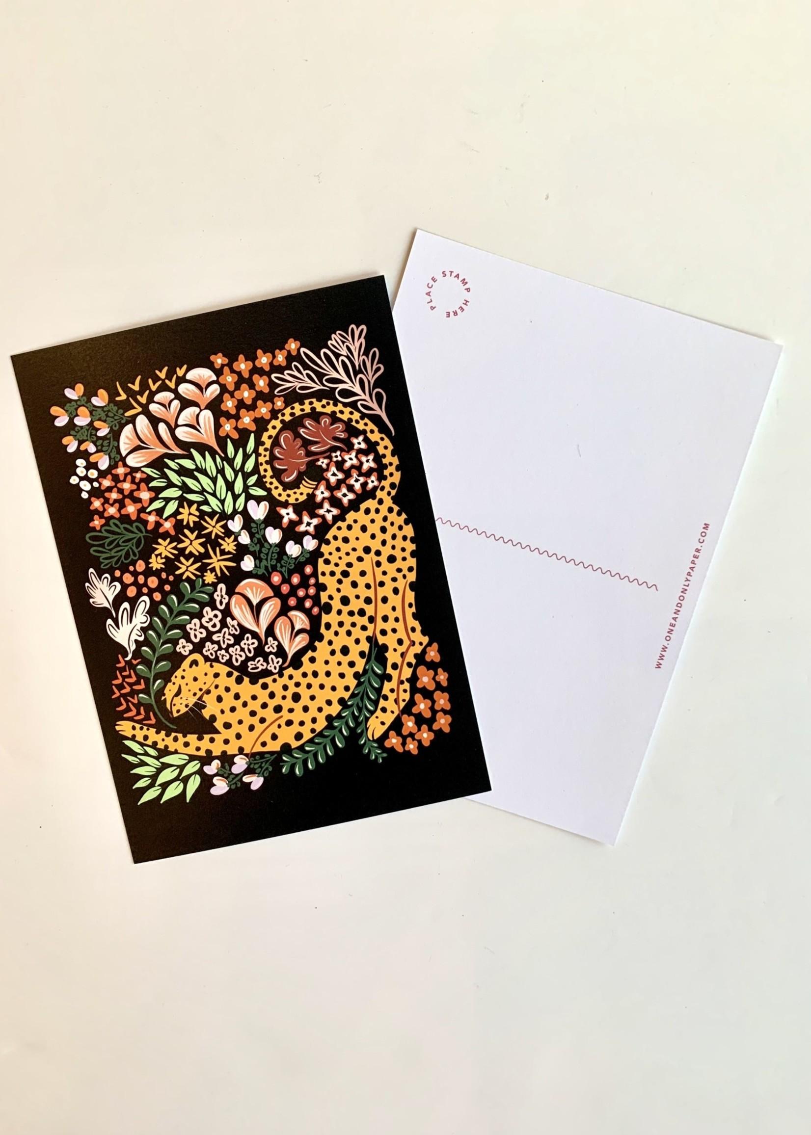 One & Only Paper Cheetah Postcard Print III