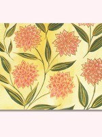 One & Only Paper Pink Dahlia Gold Foil Printed Card