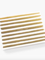 Boxed Set of Gold Stripe Thank You Cards