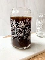 One & Only Paper White Floral Pattern Glass