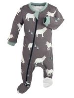 ZippyJamz Little Howler Footed Babysuit