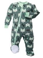 ZippyJamz Quiet Fox Footed Babysuit