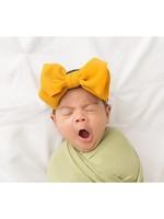 Aubrey Gianna Big Bow Skinny Headband in Mustard