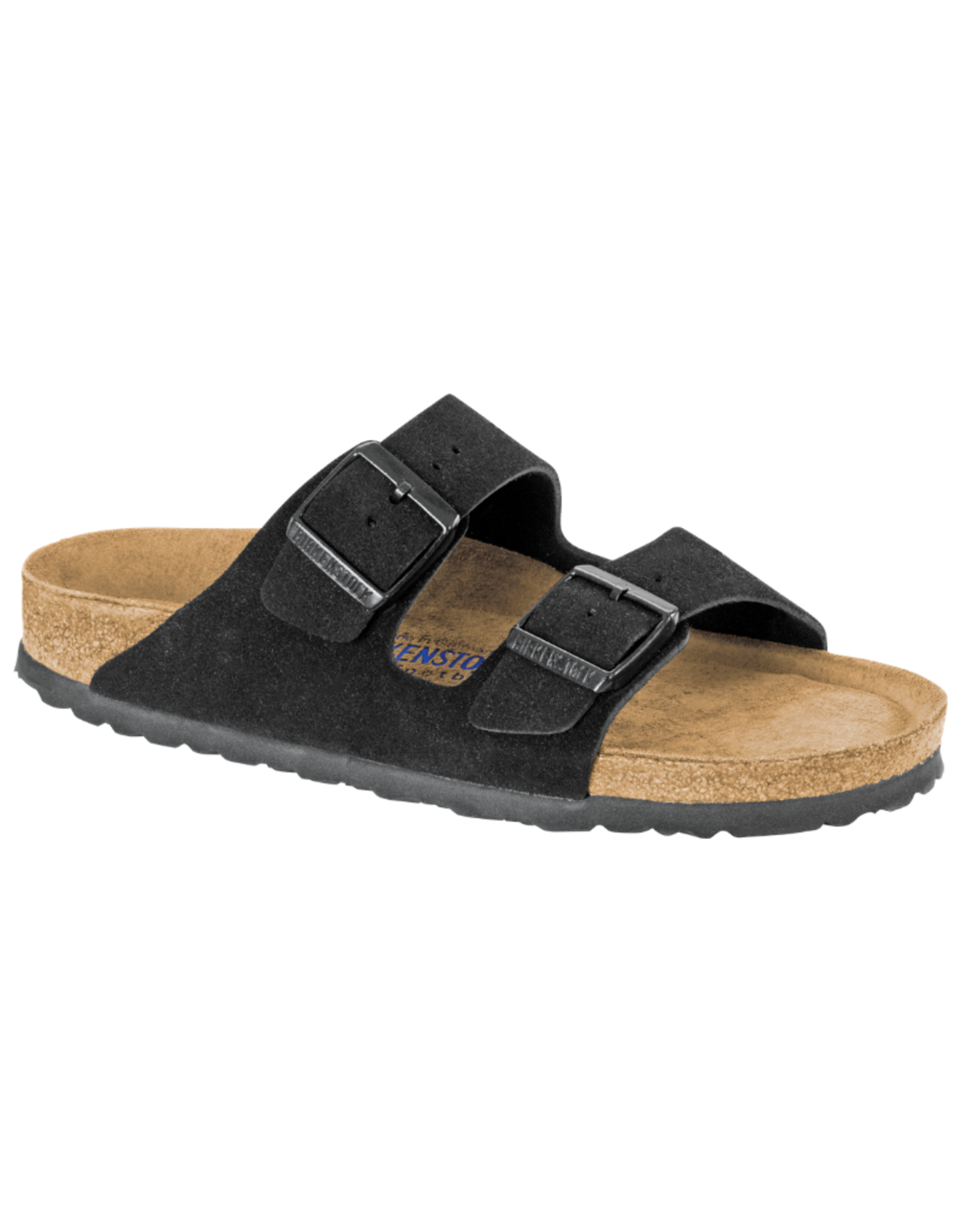 Arizona Black Suede Soft Footbed