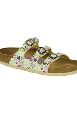 Florida Meadow Flowers Beige Birko-Flor Soft Footbed