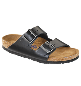 Arizona Black Amalfi Leather Soft Footbed