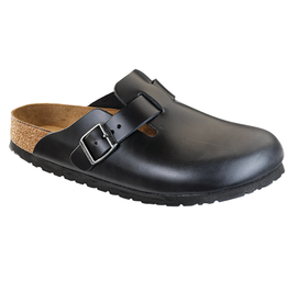 Boston Black Amalfi Leather Soft Footbed