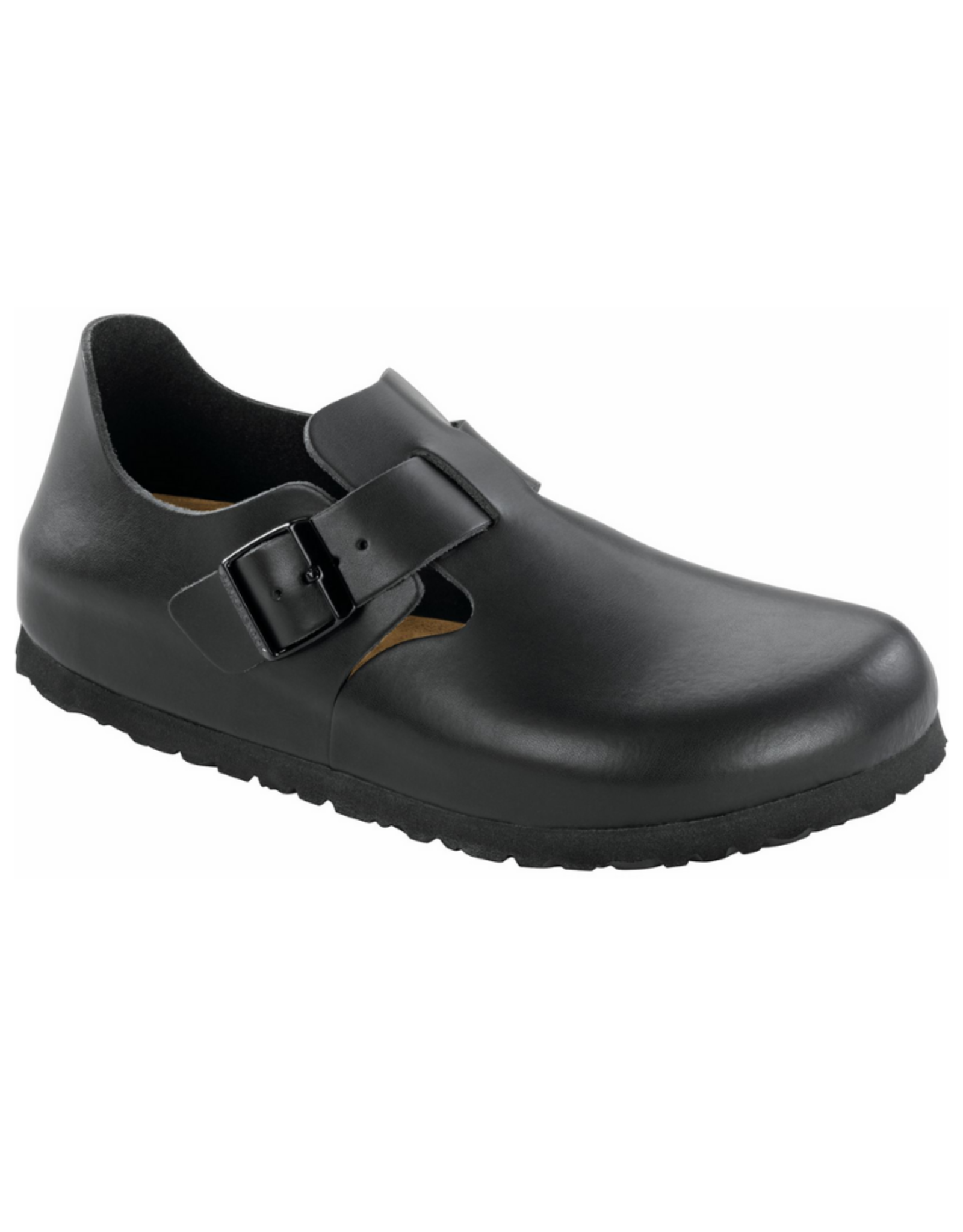 London Black Leather Soft Footbed