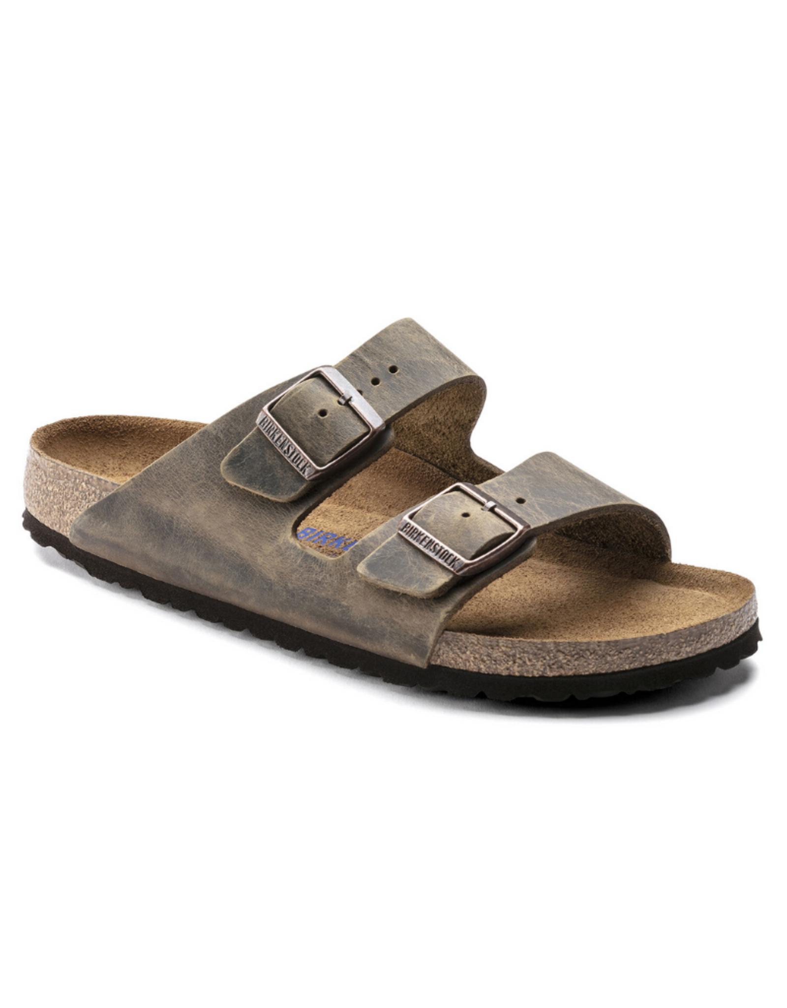 Arizona Mud Green Oiled Leather Soft Footbed