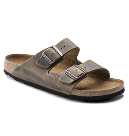 Arizona Mud Green Oiled Leather Soft Footbed
