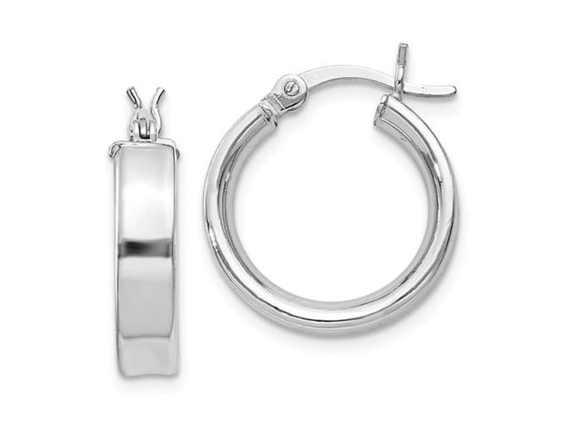 This Is Life My Go To Hoop Earrings - Sterling Silver