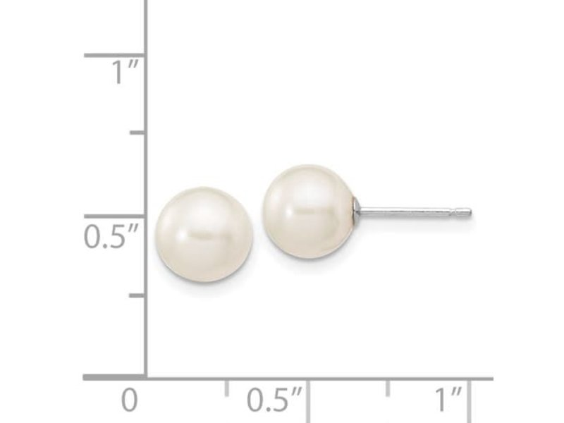 This Is Life White Cultured 7-8mm Pearl Earrings