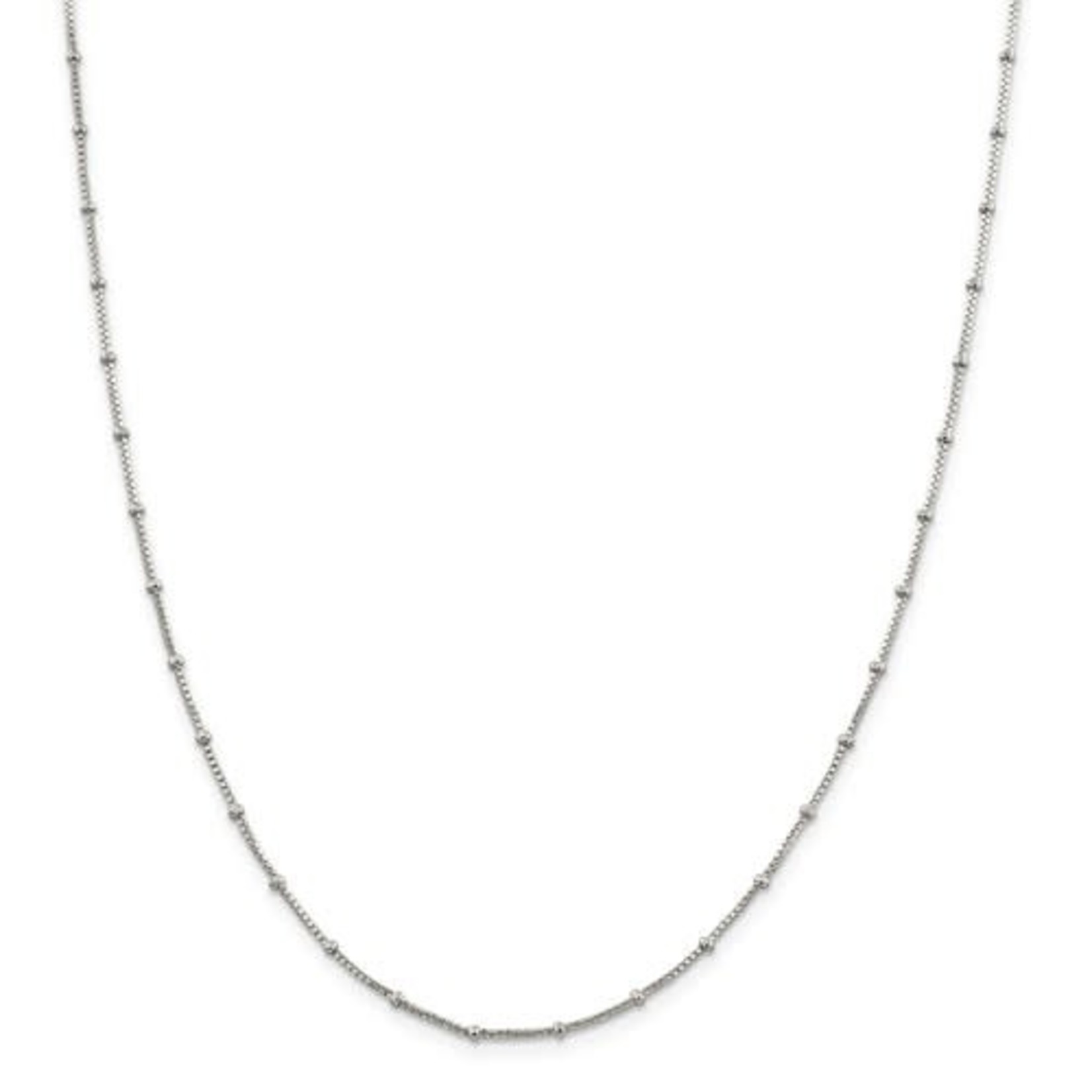 This Is Life Sterling Silver 1.25mm Beaded Box Chain