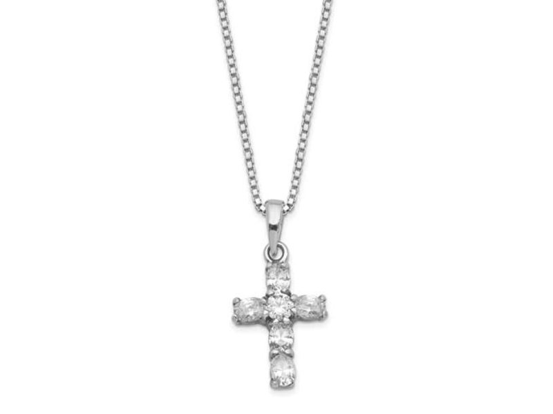 This Is Life Cross Necklace In Sterling Silver