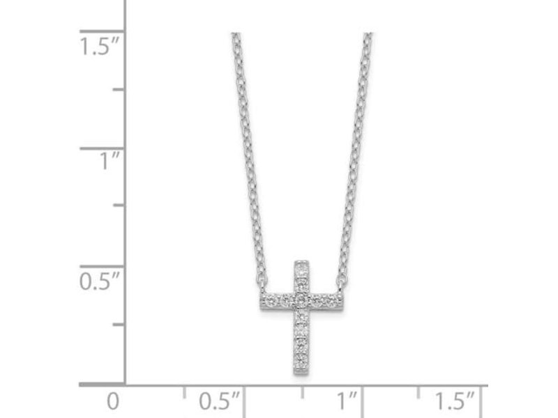 This Is Life Delicate Cross Necklace In Sterling Silver