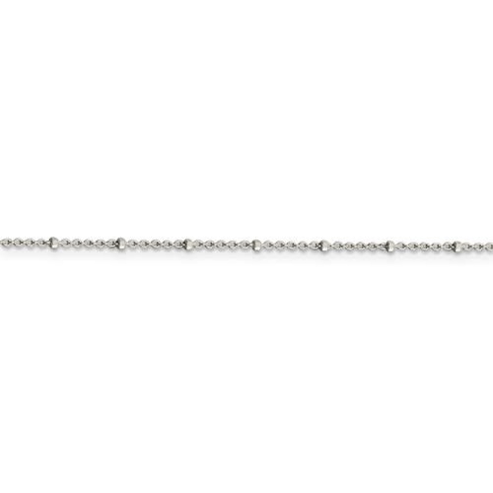 This Is Life Rolo Bead Chain - Sterling SIlver