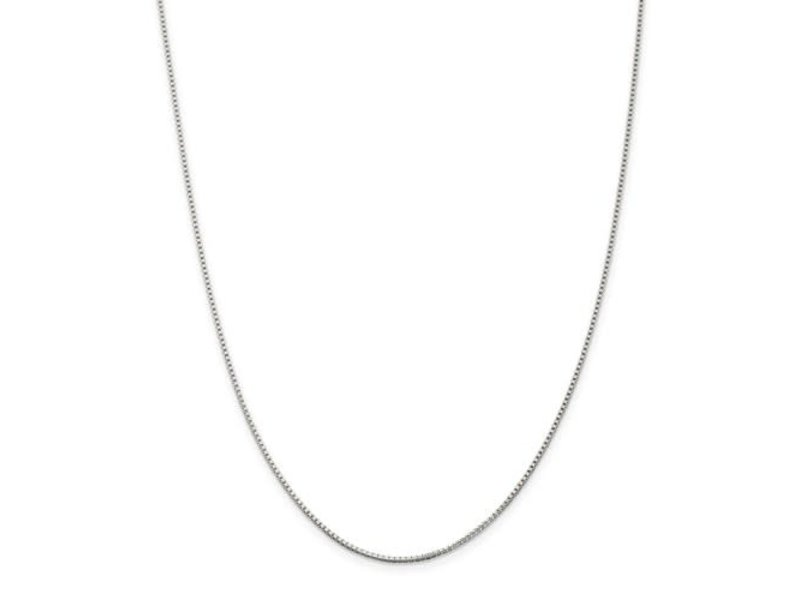 """This Is Life Box Chain - Sterling Silver 18"""""""