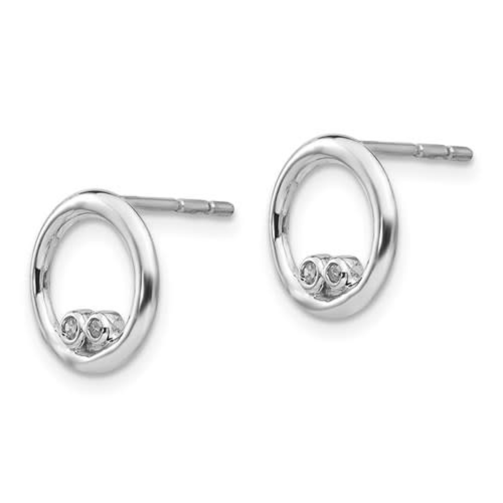 This Is Life Double Double Diamond Earrings - Sterling Silver