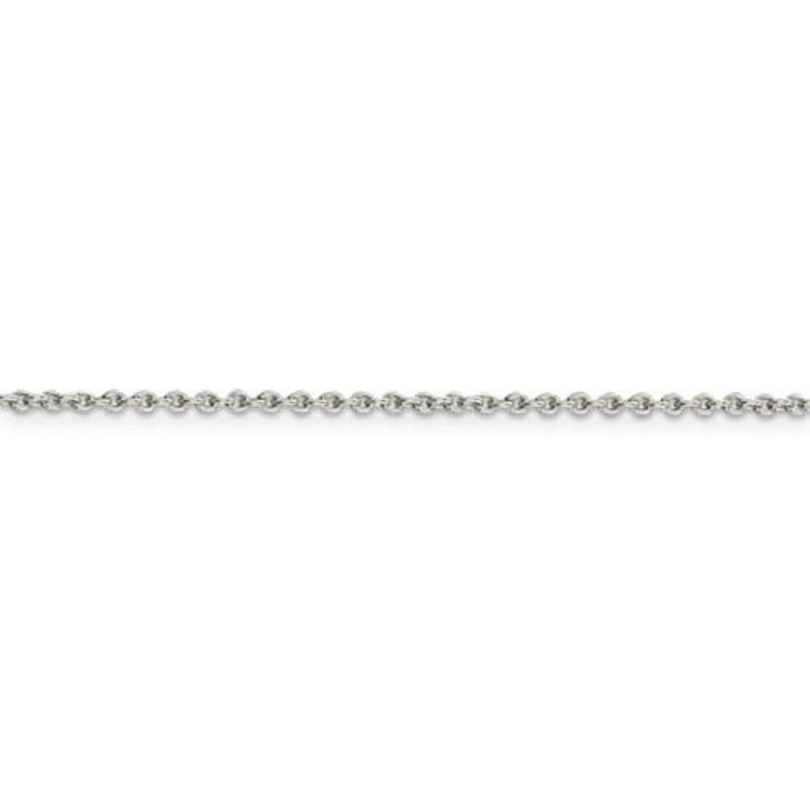 """This Is Life Cable Chain - Sterling Silver 18"""""""