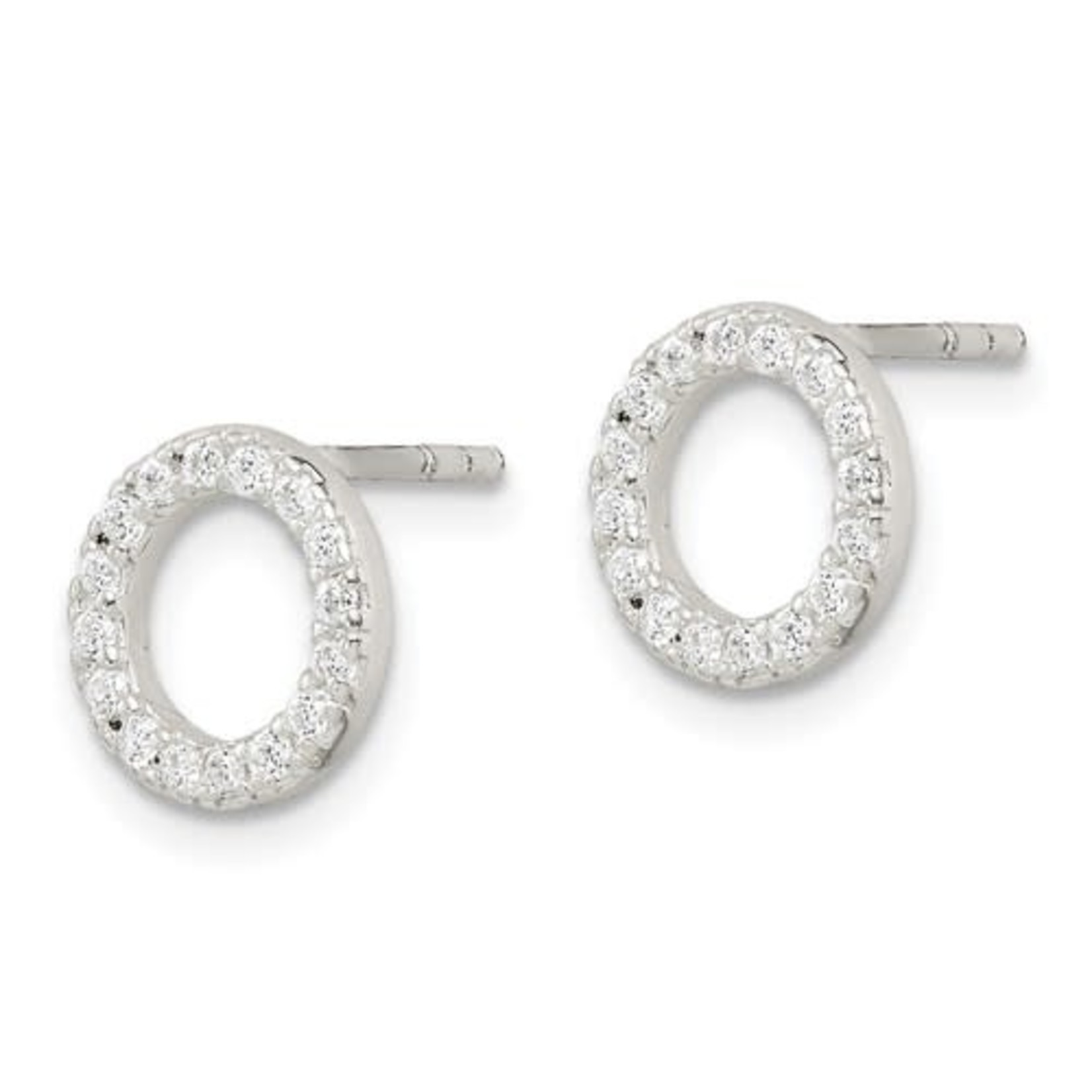 This Is Life Oh My Sterling Silver Cz Earrings