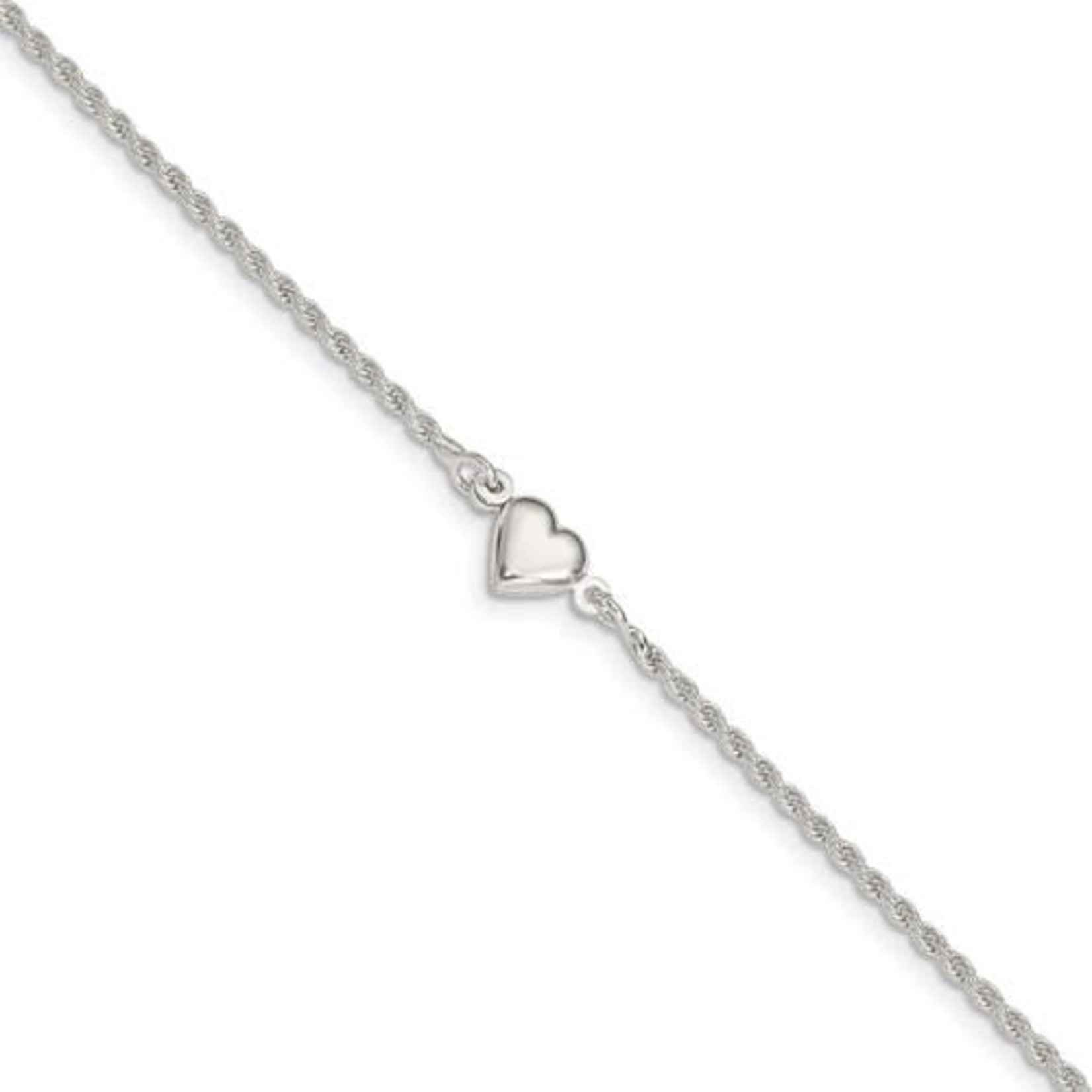 This Is Life Puffed Heart Anklet - This Is Life