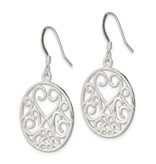This Is Life Heart Filigree Sterling Silver Earrings