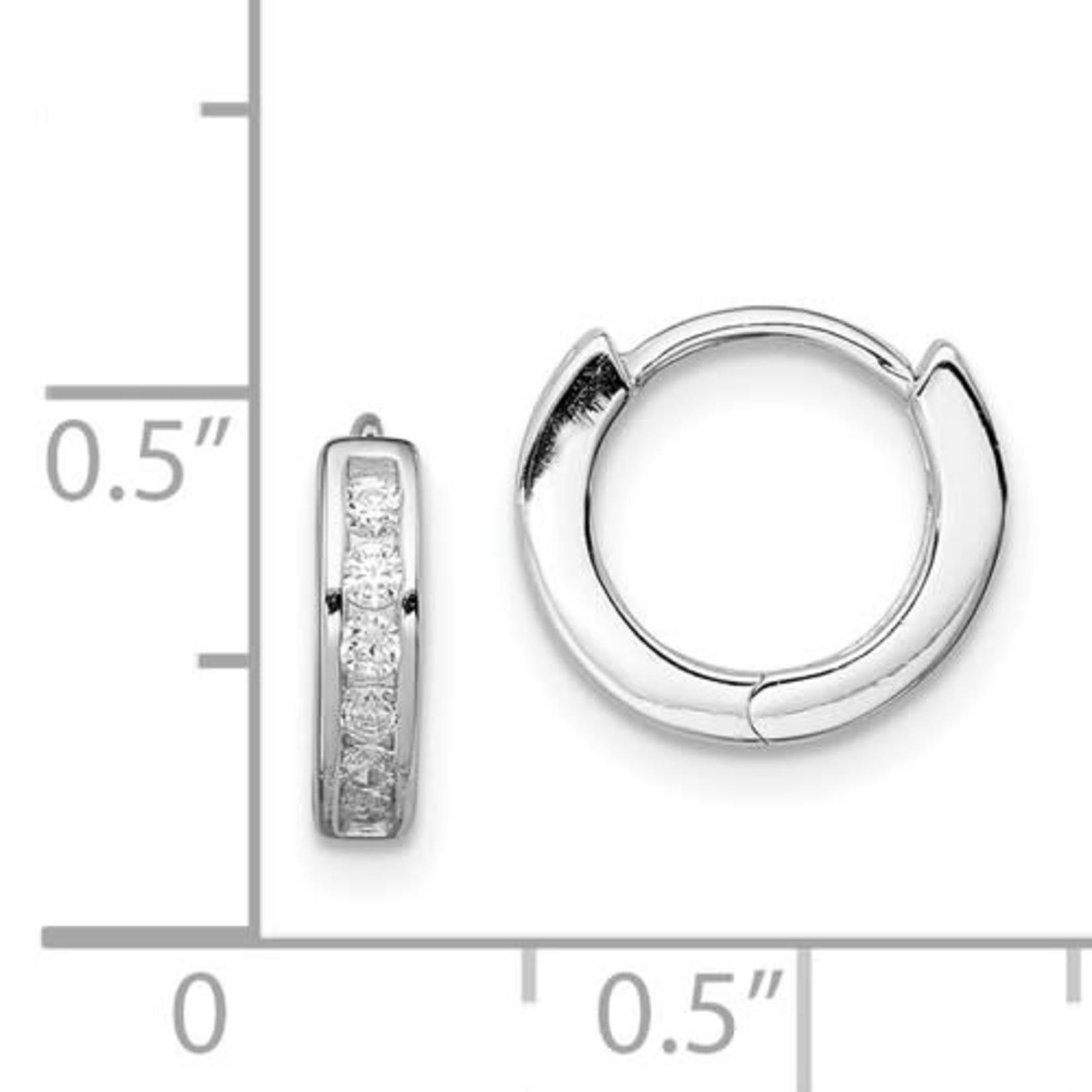 This Is Life CZ 12 mm Huggie Earrings