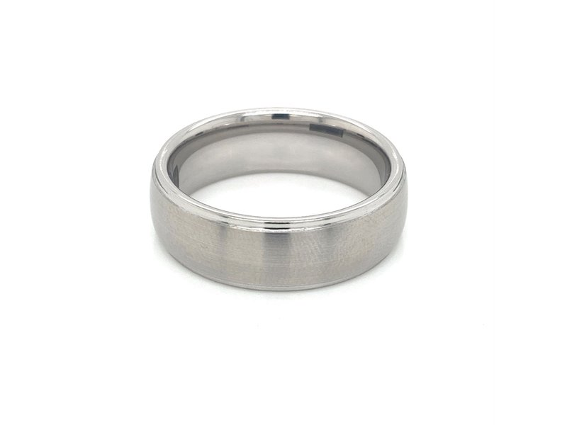 Serinium Wedding Bands Serinium Satin 8mm Dome Men's Wedding Band