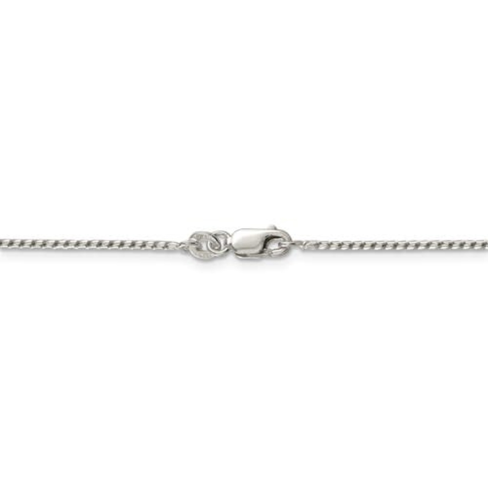 """This Is Life Round Franco Sterling Silver Chain - 18"""""""