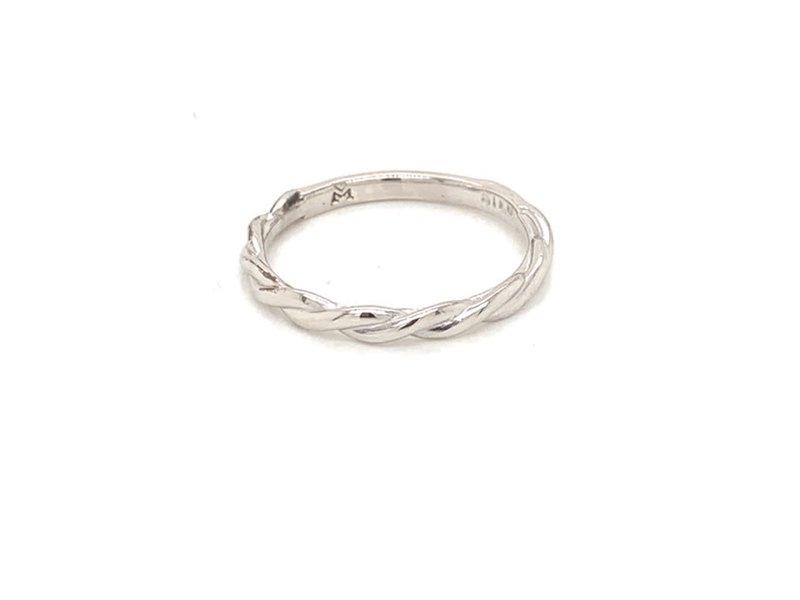 On The Edge Lavish Twist Sterling Silver Ring