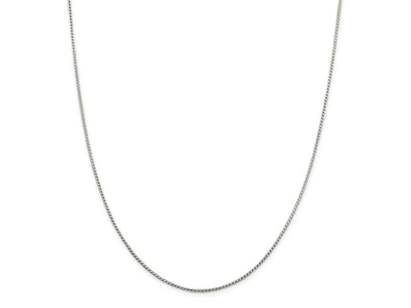 This Is Life Sterling Silver 1.25mm Round Franco Chain 18 Inch
